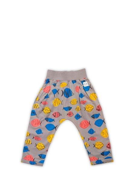 Kids Indikidual Fish Harem Pants - Gray