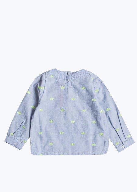Kids Bonheur Du Jour Noe Paper Boat Shirt - Light Blue