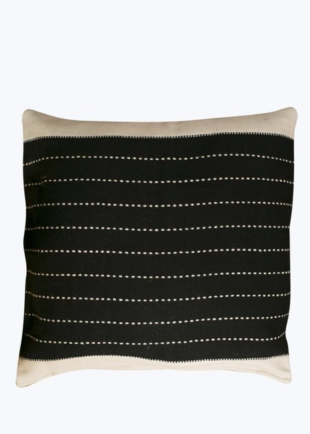 Khadi & Co. Large Cushion - Black/Natural