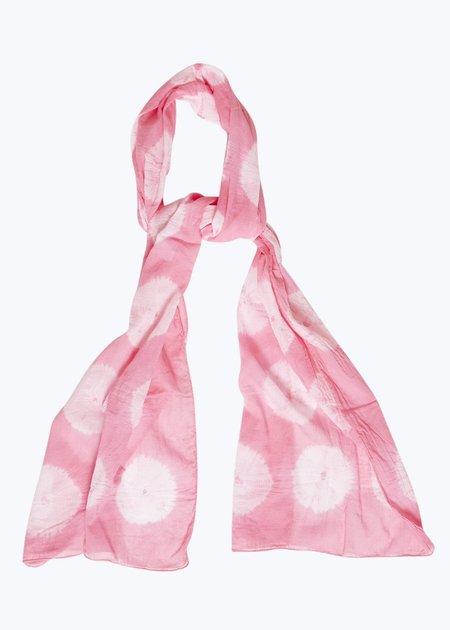 Auntie Oti Tie Dye Scarf - Pink