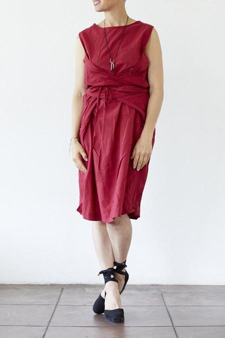 Uzi NYC Uzi Oxford Dress - Red