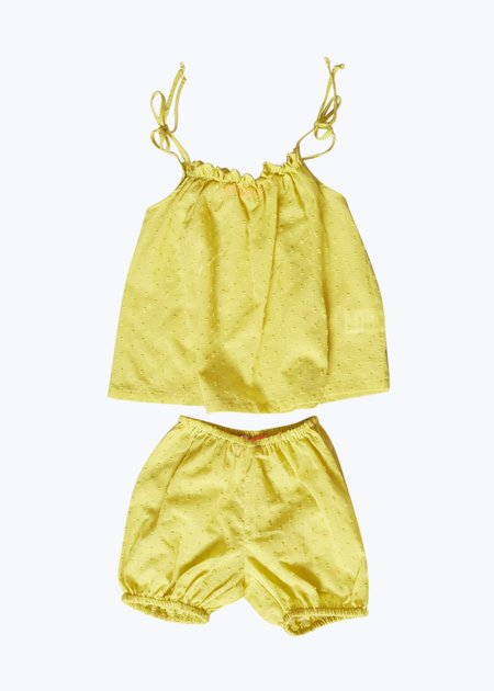 Kids Thomas Sires Baby Tank Set - Yellow Swiss Dot