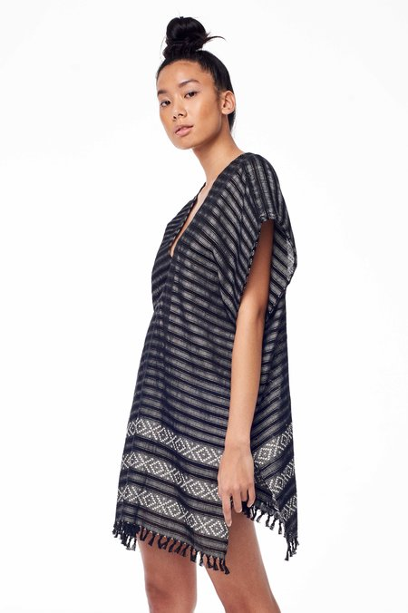 Wax & Cruz XO Caftan - Black/White