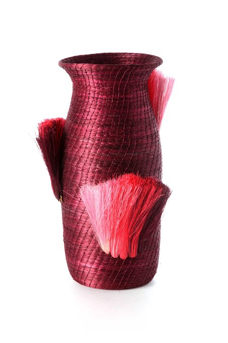 Charlie Sprout Fanned Out Small Tall Vase - Plum/Peony