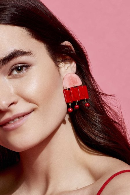 SHICATO Roberta Earrings - RED