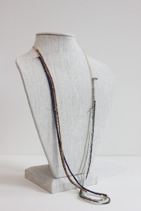 CLP Gemstone Combo Chain Necklace
