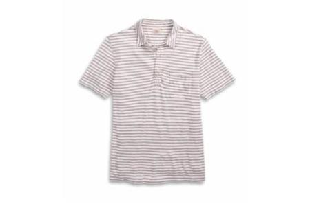 Faherty Isle Stripe Polo - Natural