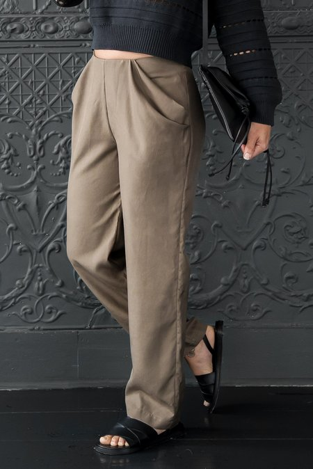 Pamela Mayer Drape Pocket Pant - Olive