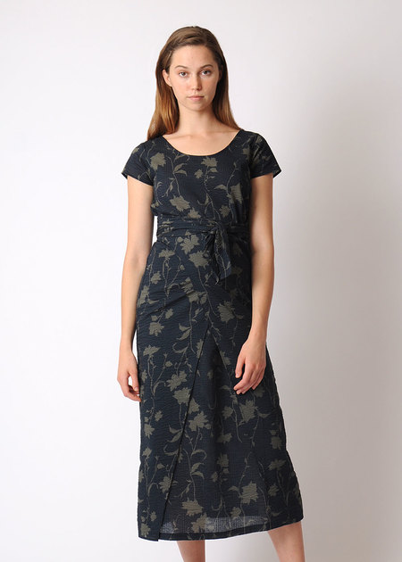 Pale Fire Bundle Dress - FLORAL CRINKLE