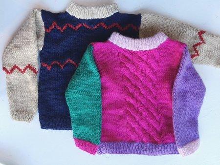 Kids Wovenplay Hand Knit Sweater