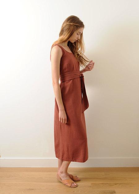 Pale Fire Goddess Dress - Terracotta