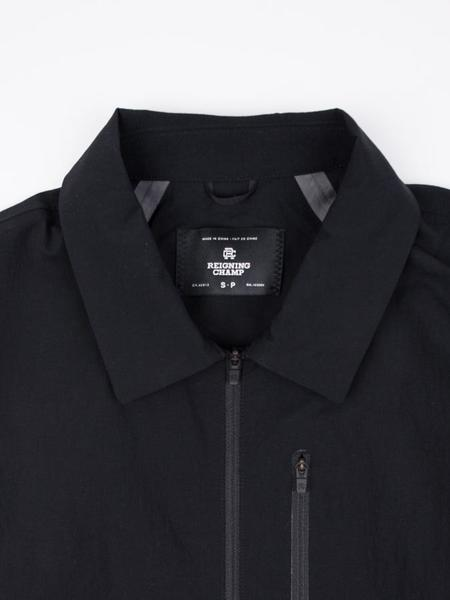 Reigning Champ Woven Stretch Nylon N279 Wind Shirt - Black