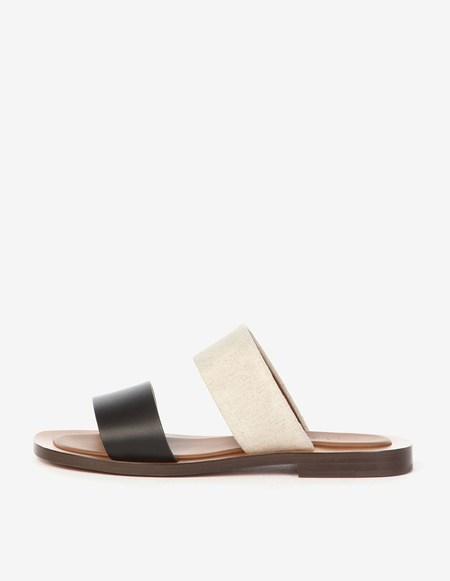 Amblême Ugalde Natural Linen And Calfskin Sandals