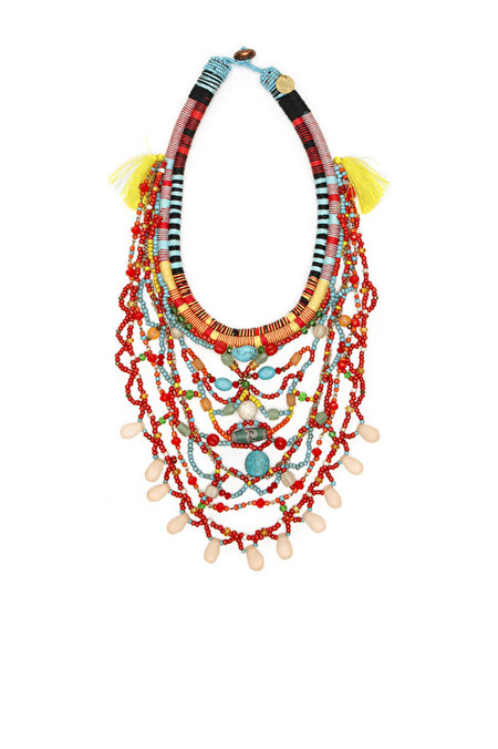 Maliparmi Hand beaded tribal necklace with clasp