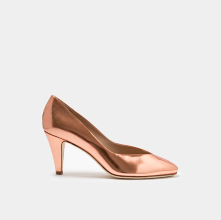 Sclarandis Stella Pump - Rose Gold Mirror Metallic