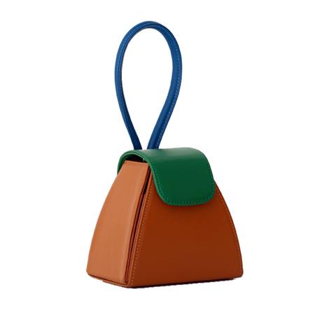 ATELIER PARK Color Block Triangle Bag - CAMEL