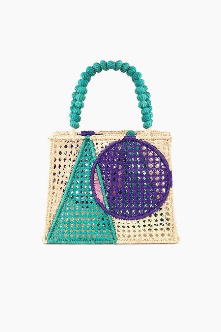 mercedes salazar Interseccion Naranja Bag - Natural/Blue