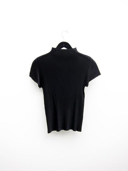 Issey Miyake Mist Micropleat Top - Black