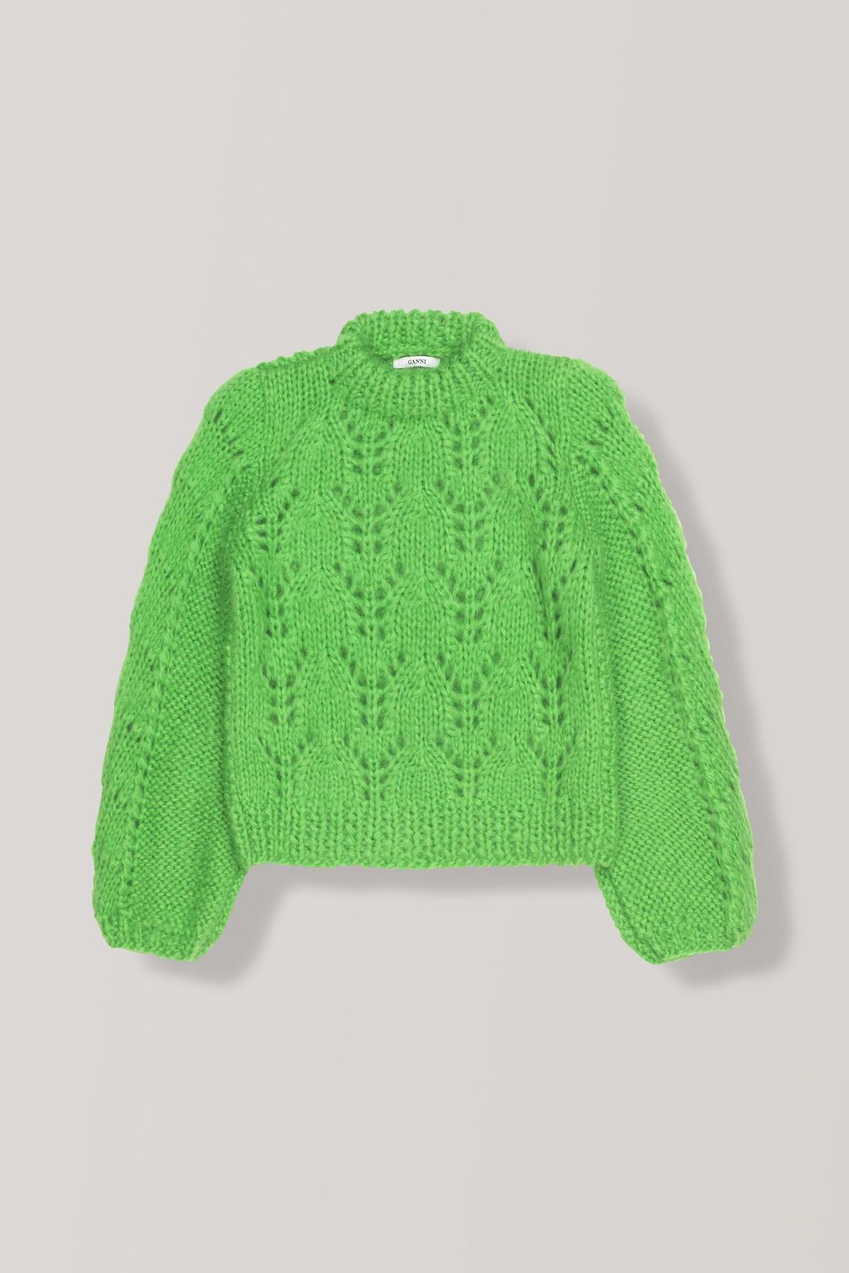 47d5bab9778ec Ganni The Julliard Mohair Pullover - Classic Green