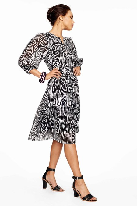 Banjanan Softly Printed Dress - Black/White