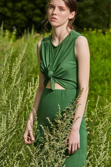 Eve Gravel Wildflower Dress - Green