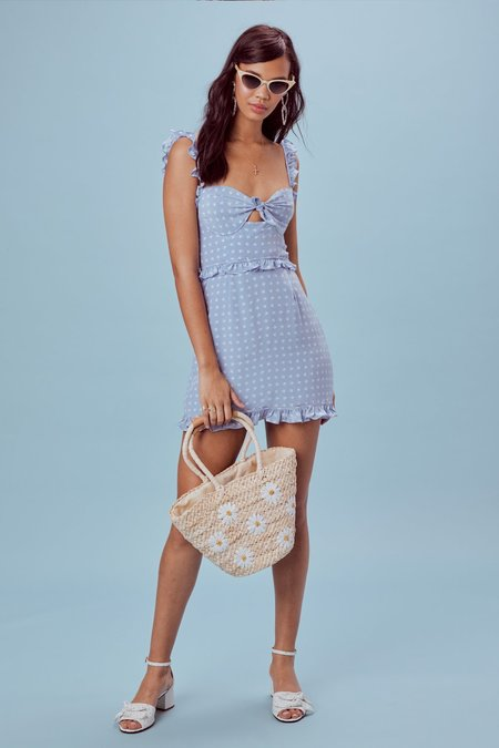 For Love & Lemons Sweetheart Mini Dress - Heart Print