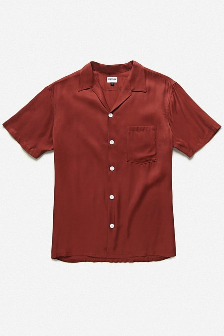 Fortune Goods Cuba Shirt - Burgundy