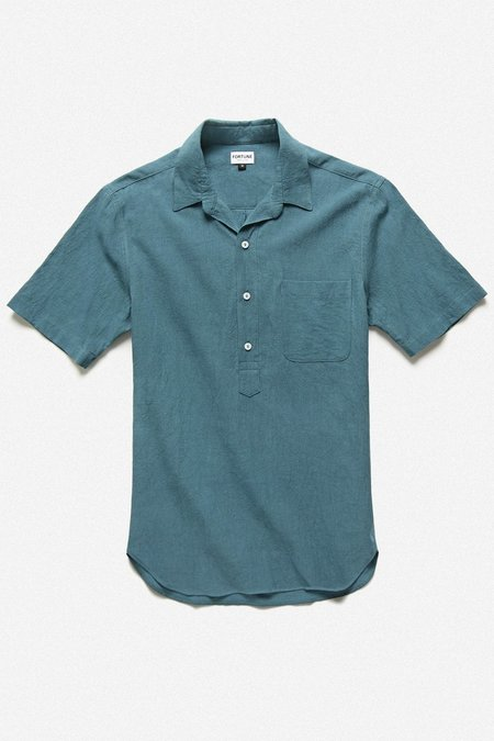 Fortune Goods Popover Shirt - Island Blue