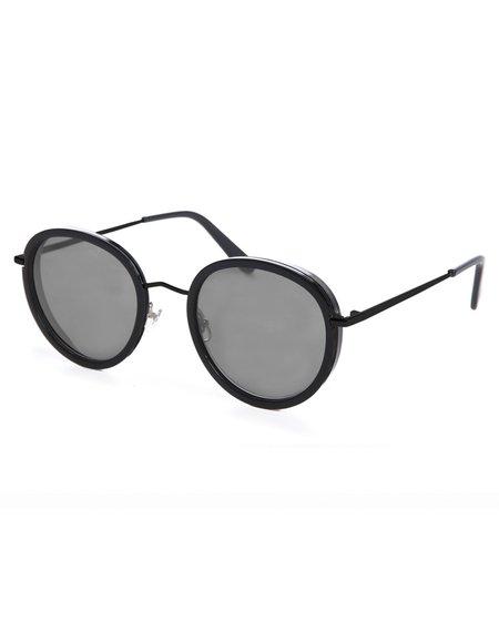 Wonderland Montclair Sunglasses - Gloss Black Gray CZ