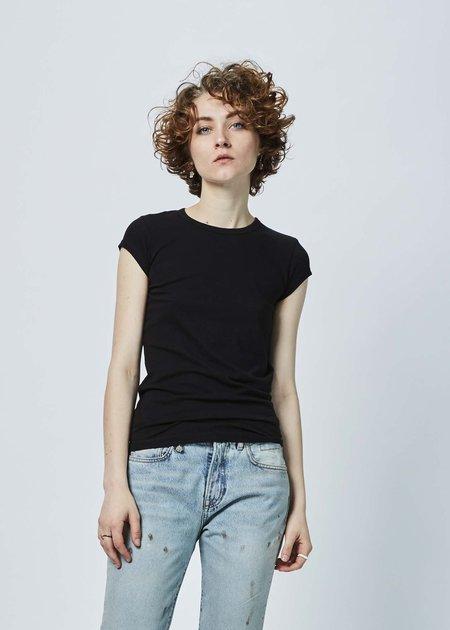 Organic by John Patrick Short Sleeve Shirttail - Black