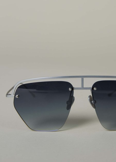 Smoke x Mirrors The Line Aviator Sunglasses - Polished Silvertone