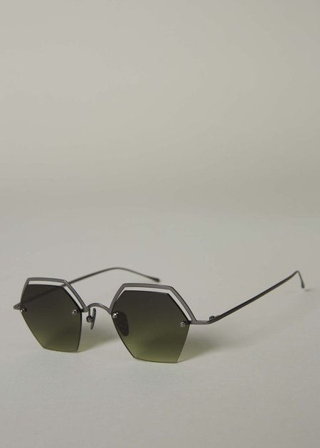 Smoke x Mirrors The Line Hexagonal Sunglasses - Polished Goldtone