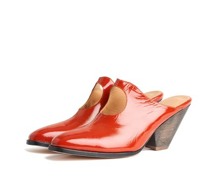 the palatines ina mule -  burnt patent leather