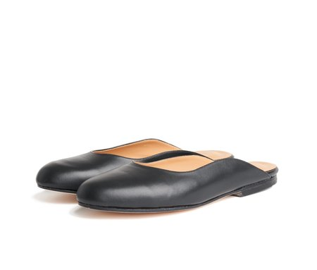 the palatines maxime mule -  black smooth leather