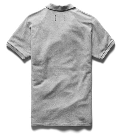 Reigning Champ Athletic Pique Polo - Heather Grey