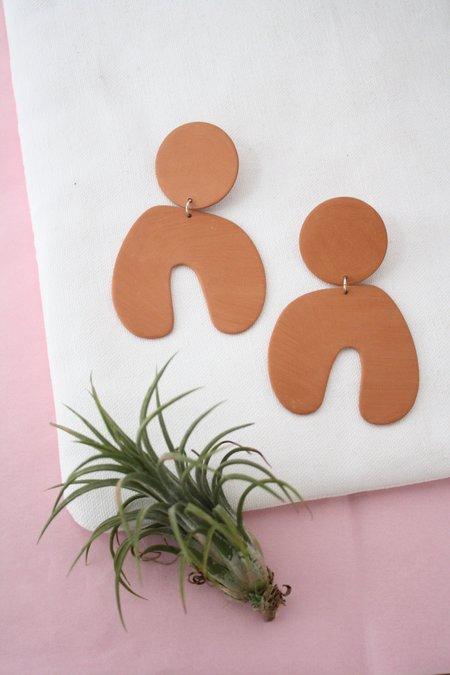Four Eyes Ceramics Big Arch Earrings - Terracotta
