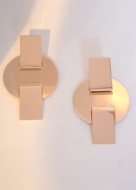 Minoux Cross Disc Earrings