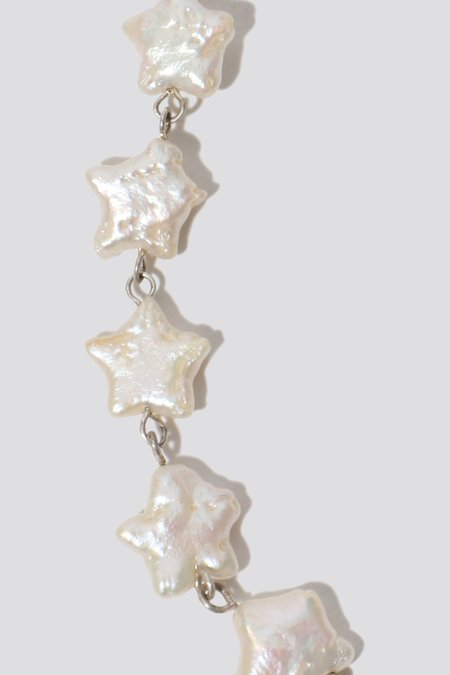 Pauline Pauline Pearl Star Drop Earrings