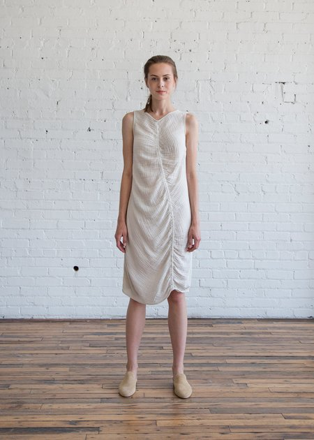 Raquel Allegra Column Dress - Dirty White