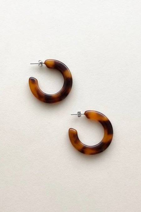 Machete Kate Hoop Earrings - Amber Tortoise