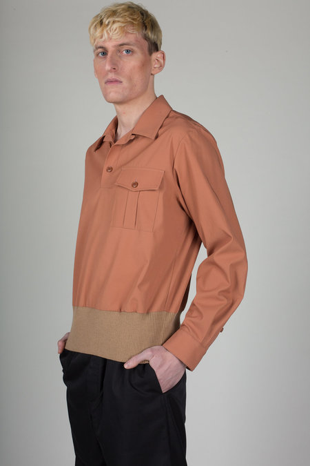 Dries Van Noten Coffey Shirt Top - Salmon