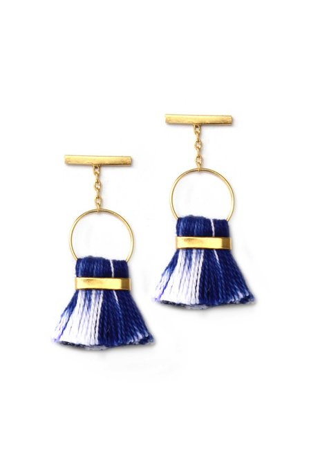 Bluma Project Halle Earring - Blue Ikat