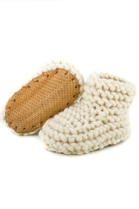 Kids Chilote Baby Shoes - Natural/Brown