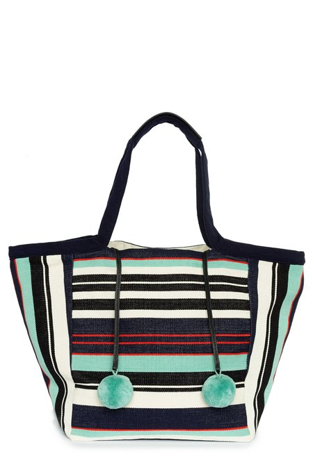 Mercado Global Rosa Tote - Seaside Stripe