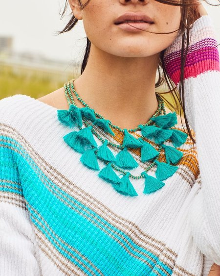 Bluma Project Gia Tassel Necklace - Turquoise