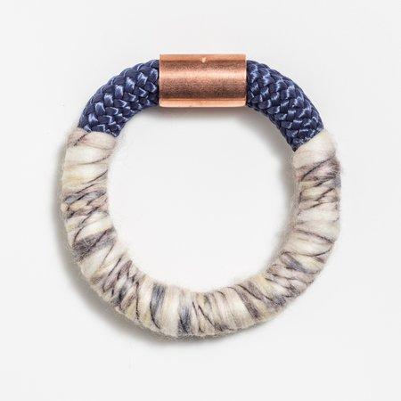 Mweya Tanaka Bracelet - NAVY/CREAM