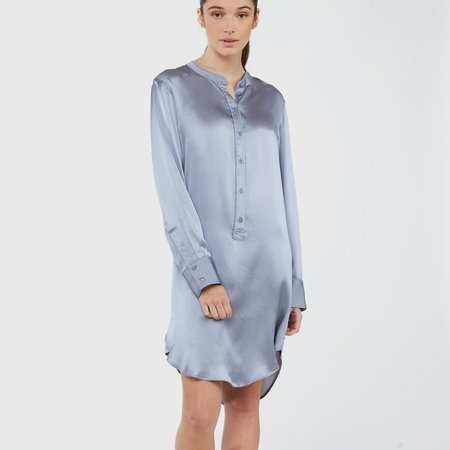 Laing Home Silk Nightshirt - Sky