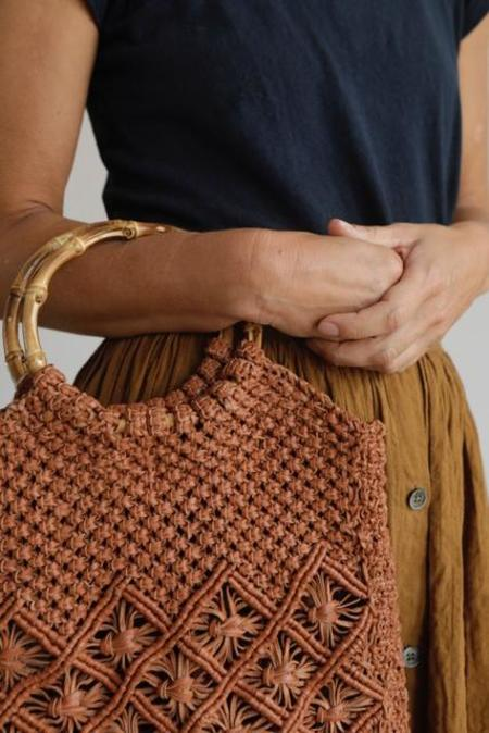Maison Bengal Hand Woven Macrame Leather Bag
