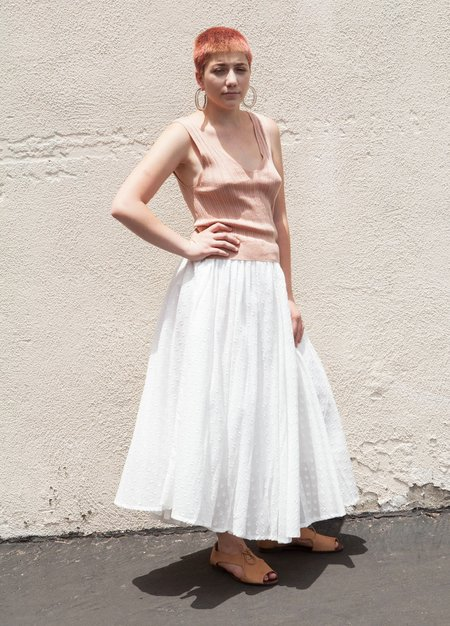 Szeki Summer Pleated Midi Skirt