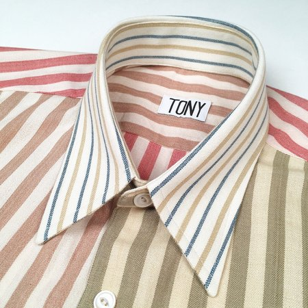 Unisex Colorant X Tony Shirtmaker Woven Cotton Shirt - Mult-Stripe No. 3